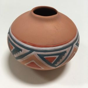Other - SALE Ceramic Tribal Aztec Painted Clay Vase
